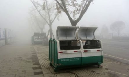 The bin in China where the bodies of the five boys were discovered