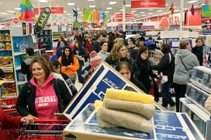 Black Friday: Highland, Indiana: People shop at a Target on Thanksgiving night