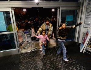 Black Friday: People wait to be first shoppers inside the store for Black Friday sales.