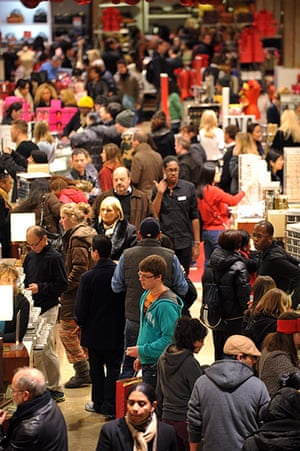 Black Friday: New York: People crowd the first floor of Macy's department store
