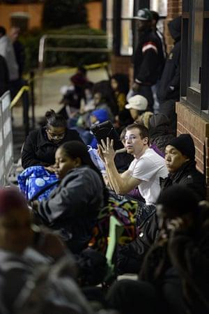 Black Friday: Atlanta, Georgia: People wait in line at a Best Buy store