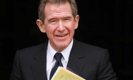 Lord Browne stands in the entrance to The House of Lords