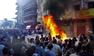 Protesters storm an office of Egyptian President Mohammed Morsi's Muslim Brotherhood Freedom and Justice party and set fires in the Mediterranean port city of Alexandria. State TV says Morsi opponents also set fire to his party's offices in the Suez Canal cities of Suez, Port Said and Ismailia.