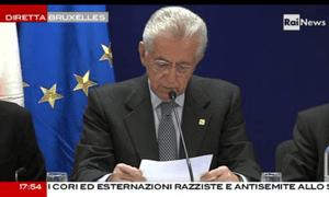 Mario Monti after EU summit, 23rd November 2012
