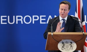 Britain's Prime Minister David Cameron speaks a news conference after the second day of a European summit at the EU headquarters in Brussels, Belgium, 23 November 2012