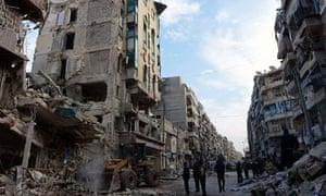 Syrian rebels outside hospital