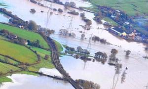 Flooding near Exeter