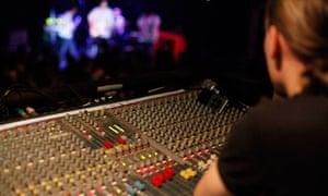 Forum sound engineer Chris Hoad