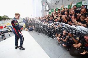 F1 season review: Vettel and Red Bull team celebrate