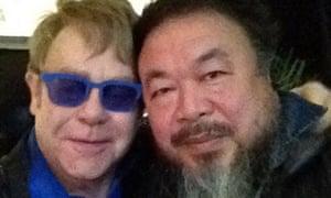 Elton John and Ai Weiwei