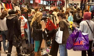 shoppers during sales
