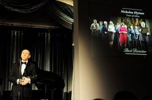 Evening Standard Awards : Nicholas Hytner accept the award for Best Director