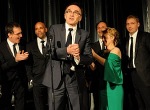 Evening Standard Awards : Danny Boyle (C) and his team from the London 2012 Opening Ceremony