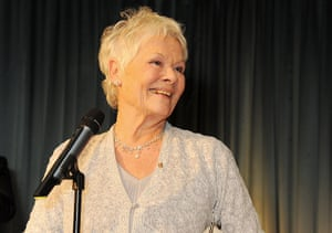 Evening Standard Awards : Dame Judi Dench accepts the Moscow Art Theatre's Golden Seagull award