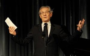 Evening Standard Awards : Sir Ian McKellen presents the Moscow Art Theatre's Golden Seagull award