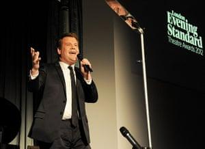 Standard Theatre Awards: James Corden hosts the 58th London Evening Standard Theatre Awards