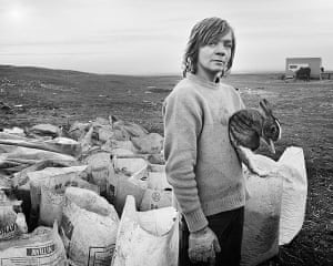 Deutsche Borse: Boo and his rabbit, Lynemouth, Northumberland, 1983 by Chris Killip