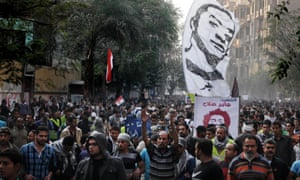 Egyptians attend the funeral of Gaber Salah, in Cairo, Egypt