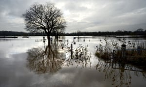 A view of the River Trent at Rolleston, Burton-on-Trent in Staffordshire, after bursting its banks following heavy rain.