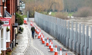 They are prepared for the worst in Bewdley, Worcestershire as their flood defences are secured in place.