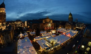 A view of Berlin's winter market at the after its official opening in the German Capital. The market is open until December 31.