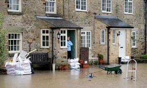 Floodwaters in Gilling West near Richmond
