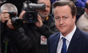 David Cameron in Brussels 23 November