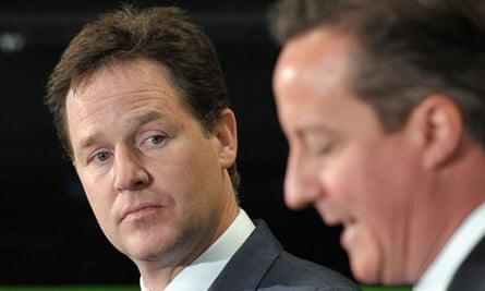 Nick Clegg and David Cameron