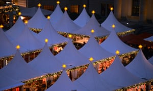 General view of  Berlin's winter market at the Gendarmenmarkt after its official opening in the German Capital. The market opens its doors from November 26 to December 31, 2012.