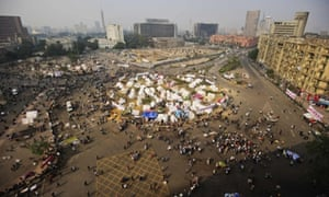 A general view of Tahrir Square in Cairo. Clashes between police and protesting youths have erupted near the square ahead of a mass rally against a decree by President Mohamed Morsi granting himself broad powers.