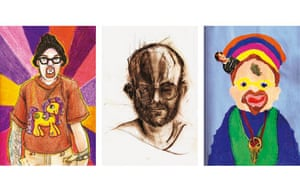 Bryan Saunders' self-portraits