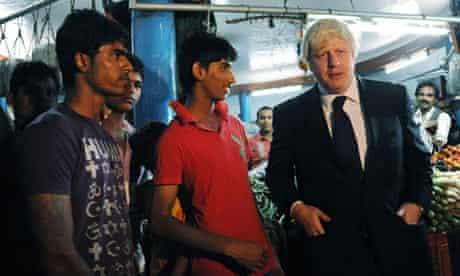 Boris Johnson in Hyderabad