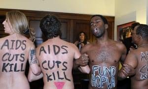 Aids activists protest