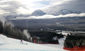 Nadia Fanchini of Italy competes during the Audi FIS Alpine Ski World Cup women's downhill training in Lake Louise, Canada.