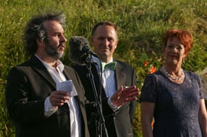 The Hobbit premiere: Peter Jackson, Prime Minister John Key and Mayor Celia Wade-Brown