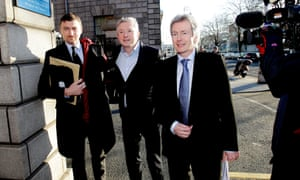 X Factor judge Louis Walsh heads into court with his legal team for his defamation case against the Sun. Walsh accepted €500,000 (£403,500) in libel damages over a false story that he sexually assaulted a man in Dublin.