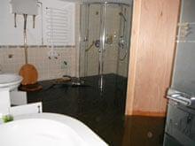Flooded bathroom