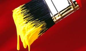 Yellow paint brush