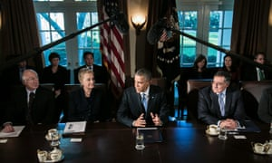President Obama speaks to cabinet meeting
