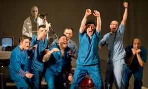 Inmates perform a play based on One Flew Over the Cuckoo's Nest during the Multi Art Penitentiary Theatre Festival in Bucharest, Romania.