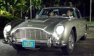 Daniel Craig in an Aston Martin in the 2006 film of Casino Royale
