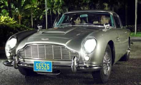 Daniel Craig in an Aston Martin in the 2006 film of Casino Royale