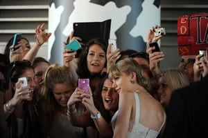 24 hours in pictures: Taylor Swift with fans on her arrival for the 26th ARIA Awards