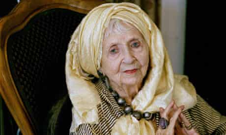 Lesley Blanch at home in Menton, South of France.