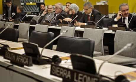 Palestine delegation at UN