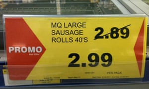 Daft deal on sausage rolls