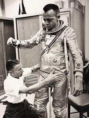Space: Alan Shepard is prepared for flight