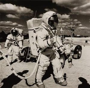 Space: Training in US for Apollo 17 flight Dec 1972, the last Moon landings