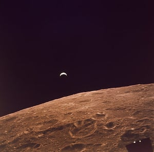 Space: The Earth as seen from the moon during Apollo 12