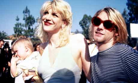Kurt Cobain, Courtney Love and baby Frances Bean at the 1993 MTV Music Video Awards in Los Angeles